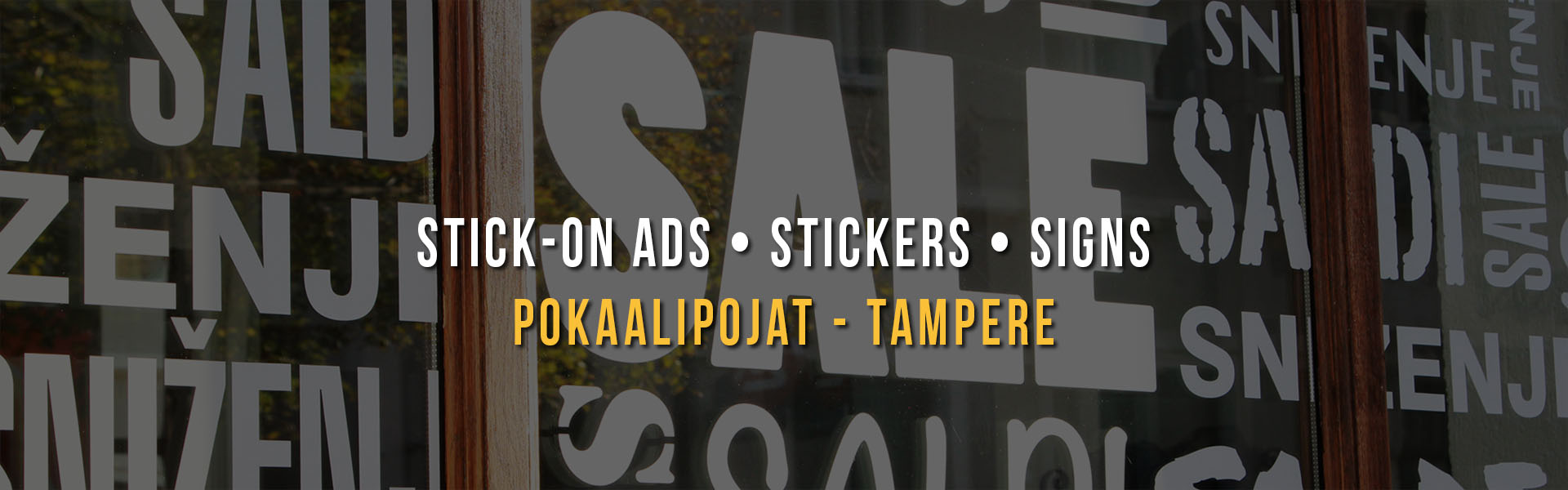 Stick-on ads and stickers • Ad signs